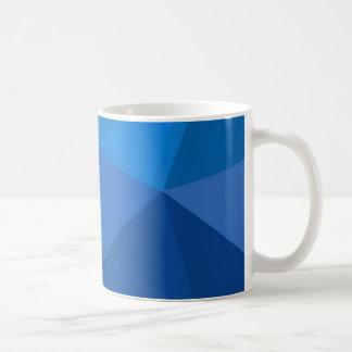 Triangular in shades of blue coffee mug