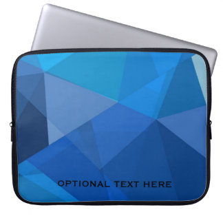 Triangular in shades of blue laptop sleeve