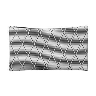 Triangular Maze Cosmetic Bag