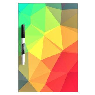 Triangular pattern dry erase board