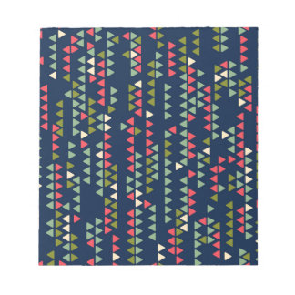 Triangular pattern notepad