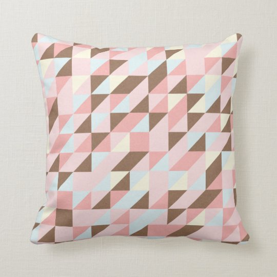 Triangular Pattern Pillow Contrast Back