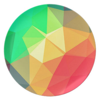 Triangular pattern plate