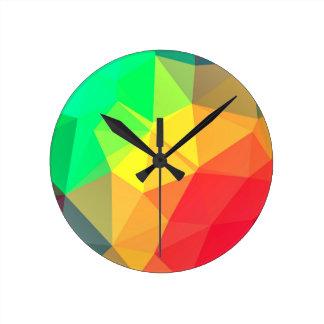 Triangular pattern round clock
