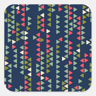 Triangular pattern square sticker
