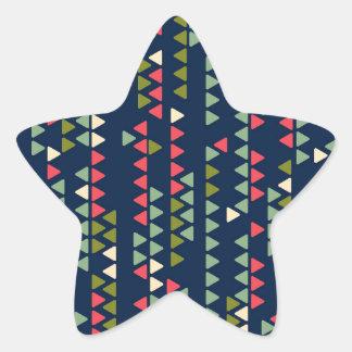 Triangular pattern star sticker