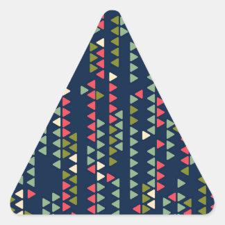 Triangular pattern triangle sticker