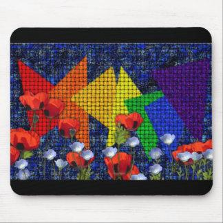 Triangular Rainbow Garden Mouse Pad