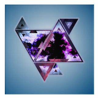 Triangular Space Dimension Acrylic Wall Art