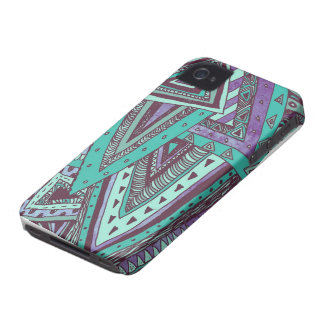 Triangulated Teal Case-Mate iPhone 4 Cases