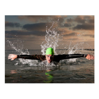 Triathlete 2 postcard