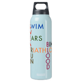 Triathlon Blood Sweat and Tears Insulated Water Bottle