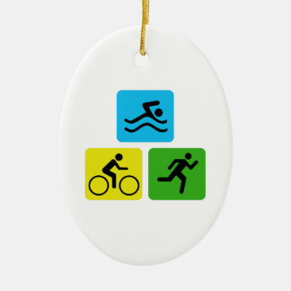 Triathlon Ceramic Ornament