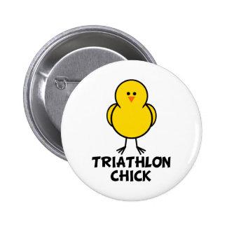 Triathlon Chick 2 Inch Round Button