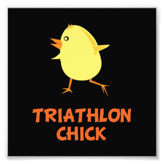 Triathlon Chick Art Photo