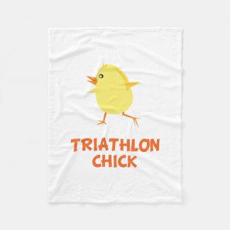 Triathlon Chick Fleece Blanket
