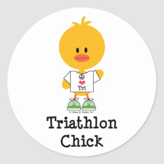 Triathlon Chick Stickers