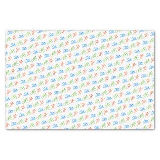 Triathlon colorful pattern sports tissue paper