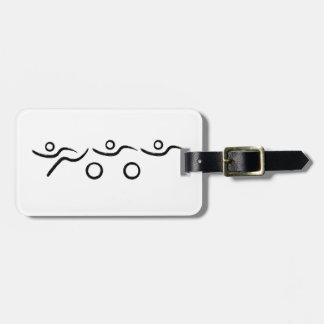 Triathlon cool and unique design luggage tag