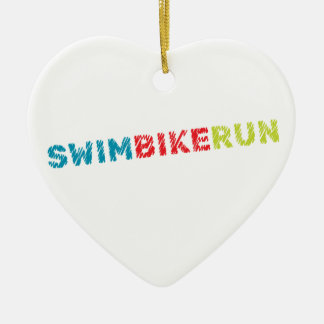 Triathlon Cool Design Ceramic Ornament