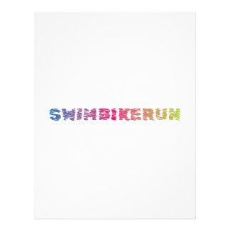 Triathlon cool design letterhead