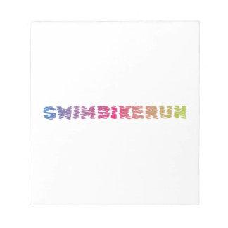 Triathlon Cool Design Notepad