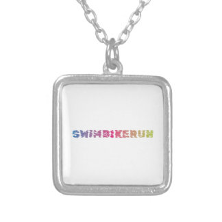Triathlon Cool Design Silver Plated Necklace
