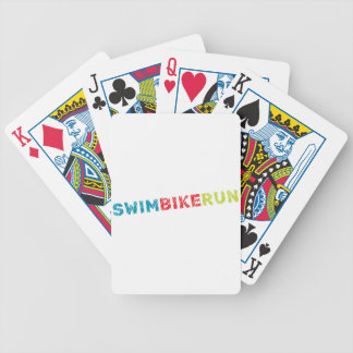 Triathlon design bicycle playing cards