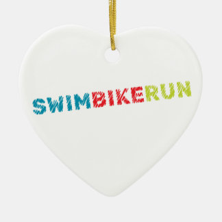 Triathlon design ceramic ornament
