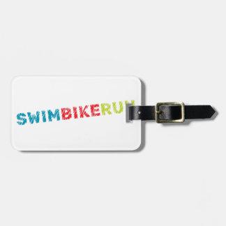 Triathlon design luggage tag