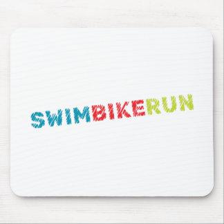 Triathlon design mouse pad