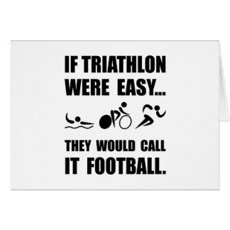 Triathlon Football Card