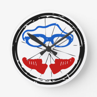 Triathlon Freak logo Round Clock