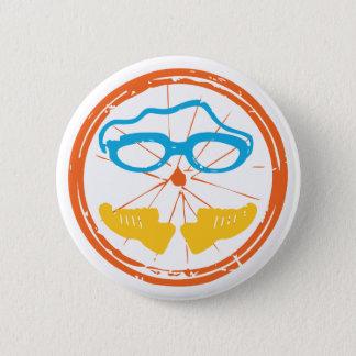 Triathlon fun design 2 inch round button