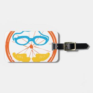 Triathlon fun design luggage tag
