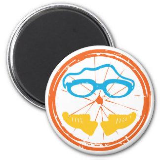 Triathlon fun design magnet