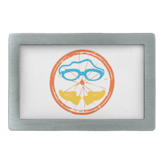 Triathlon fun design rectangular belt buckle