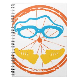 Triathlon fun design spiral notebook