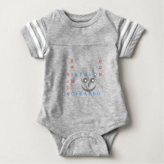 Triathlon I'm Dedicated Baby Bodysuit