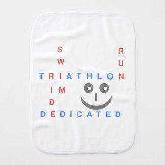 Triathlon I'm Dedicated Burp Cloth