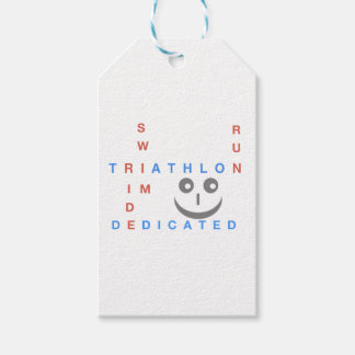 Triathlon I'm Dedicated Gift Tags