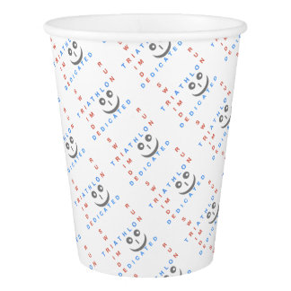 Triathlon I'm Dedicated Paper Cup