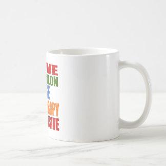 Triathlon Is My Therapy Coffee Mug