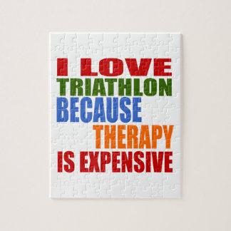 Triathlon Is My Therapy Jigsaw Puzzle