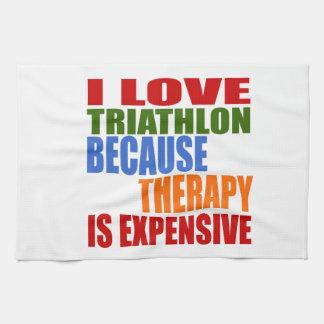 Triathlon Is My Therapy Kitchen Towel