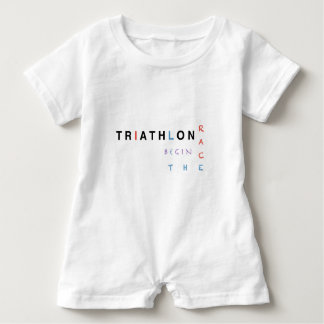 Triathlon let the race begin baby romper