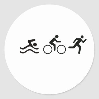 TRIATHLON LOGO CLASSIC ROUND STICKER
