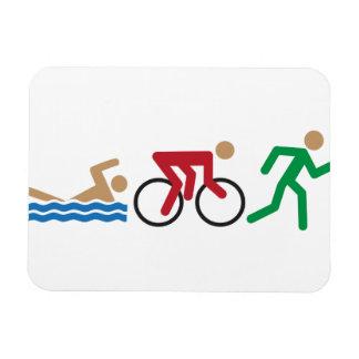Triathlon logo icons in color magnet