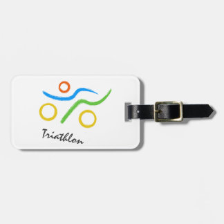 Triathlon logo luggage tag