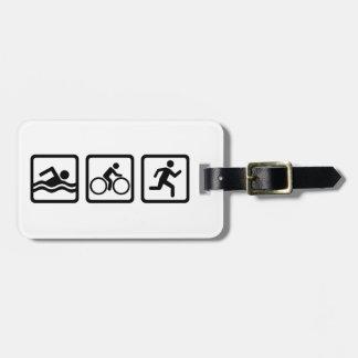 Triathlon Luggage Tag